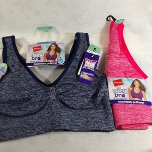 Hanes cozy sports bras 2 pack